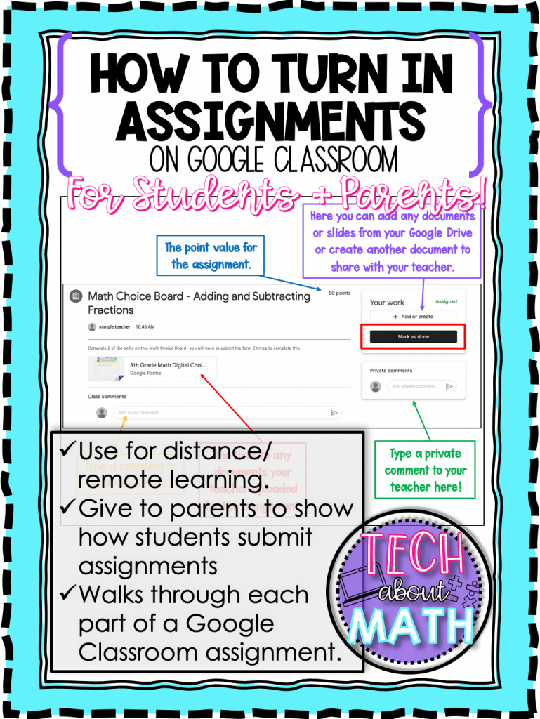 turn in assignments cover