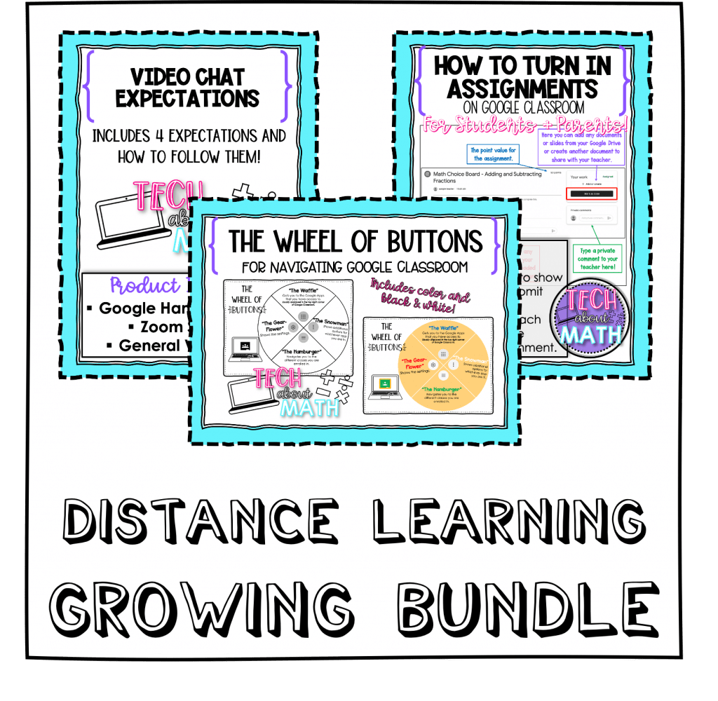 distance learning growing bundle tpt cover